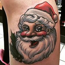 手臂卡通圣诞老人纹身图案
