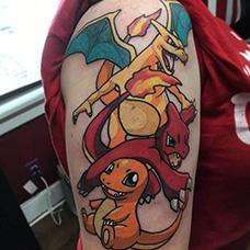 大臂个性的神奇宝贝纹身图片