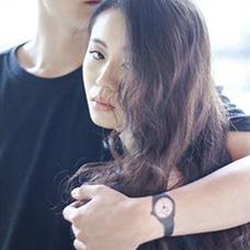 男士手腕黑色手表纹身图案