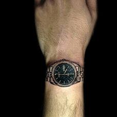 手腕写实手表纹身图案