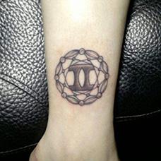 手腕创意双子座纹身图案
