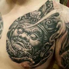 胸前帅气四大天王纹身图案
