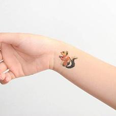 手腕松鼠纹身图片