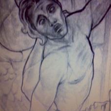 越狱主角迈克右臂天使纹身