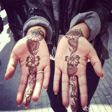 中指到手腕处的图腾纹身