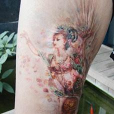 疤痕遮盖仙女纹身图案