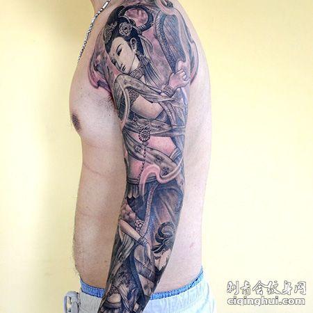 花臂仙女纹身图案