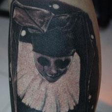 小腿小丑纹身图案
