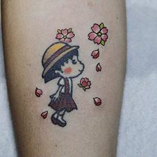 手臂樱桃小丸子纹身图案