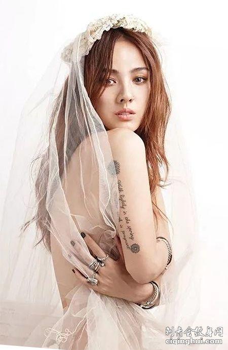 韩国绝美舞后李孝利性感纹身图案