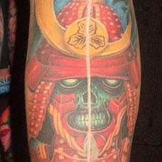 手臂幽灵武士纹身图案