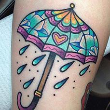 手臂可爱的雨伞纹身图片