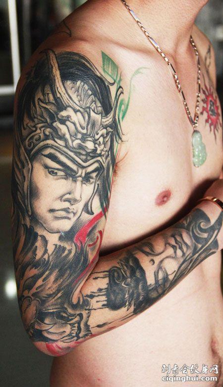 您可能还会喜欢大臂赵云赵子龙纹身图案或者满背彩色赵云纹身图案