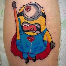 非主流动漫纹身 小黄人纹身图案鉴赏