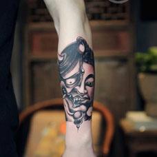 般若手臂纹身刺青鉴赏