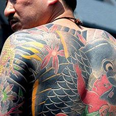 日本山口组背部纹身图片
