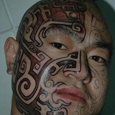 纹身达人陈天娇脸部照片