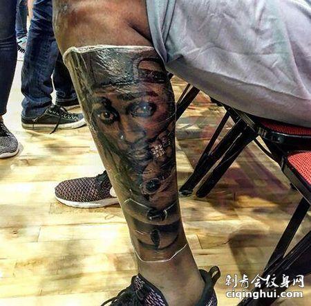 NBA球星杜兰特小腿纹身图案