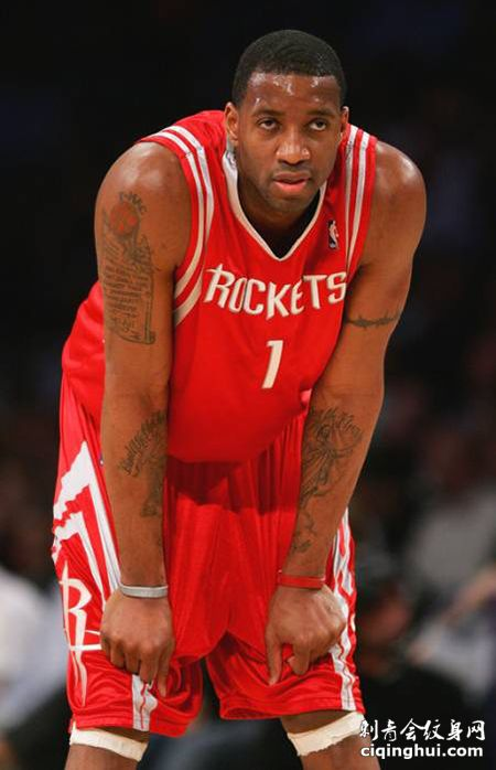 NBA球星T-MAC麦迪纹身