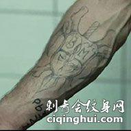 杰森斯坦森手臂帅气纹身图案