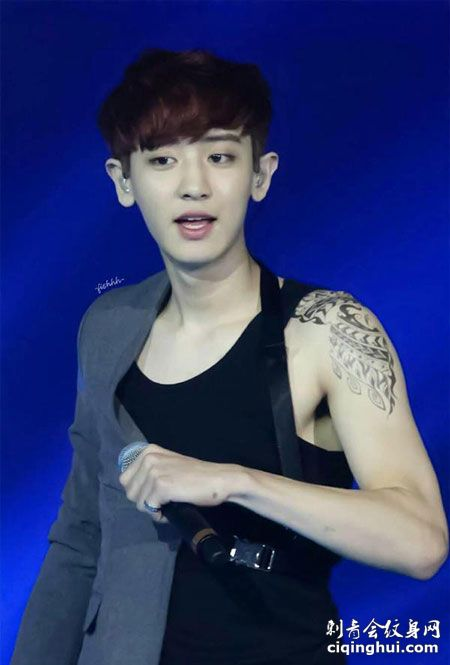 EXO手臂帅气刺青纹身