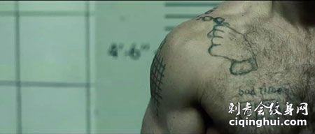 杰森斯坦森电影胸部手势纹身图