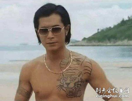 古天乐电影胸部帅气过肩纹身