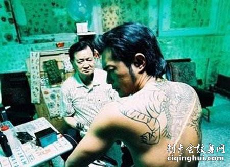 电影《夜叉》古天乐帅气纹身