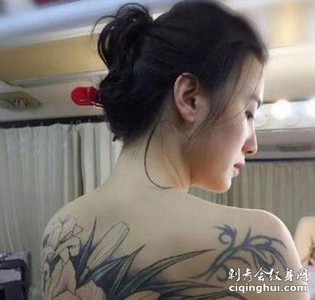 演员小宋佳电影满背性感纹身