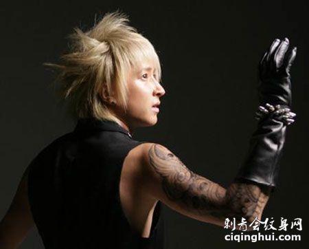 韩庚花臂刺青纹身图案
