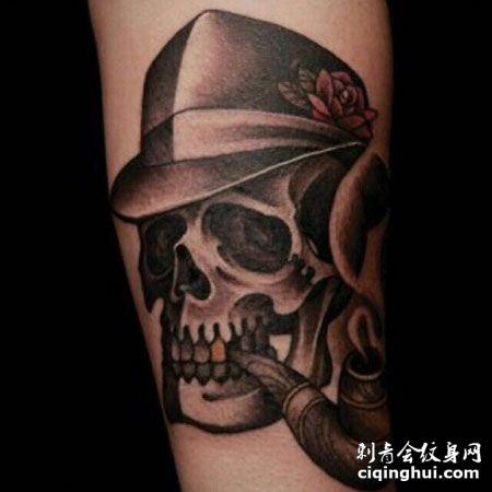 姜熙健gary手臂黑暗系骷髅头纹身