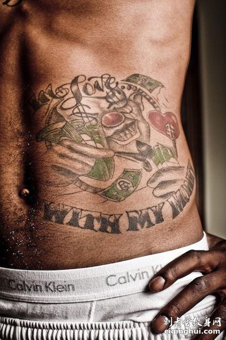 JR史密斯腰部小丑帅气纹身
