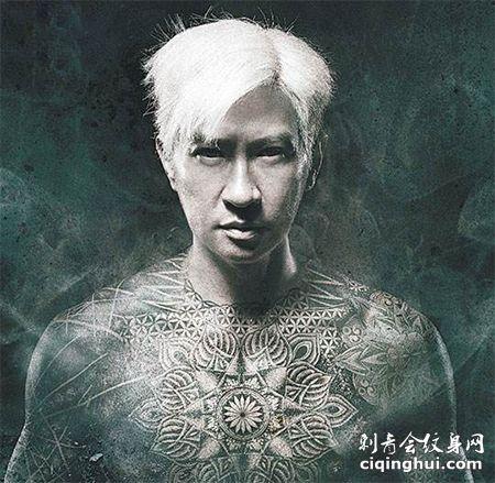 香港演员张家辉陀地驱魔人刺青图案