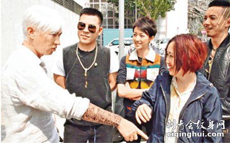 香港影星张家辉驱魔人手臂纹身