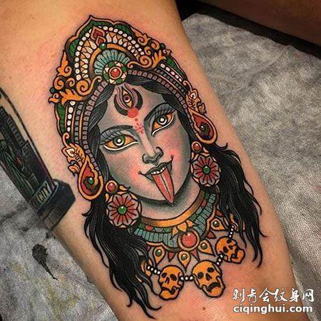 泰国女神像纹身