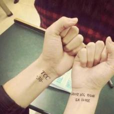 NBA球星库里双手手腕纹身图案