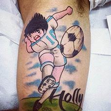 大臂足球小将纹身图案